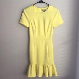 ASOS Yellow Scuba Dress NWT Size 0